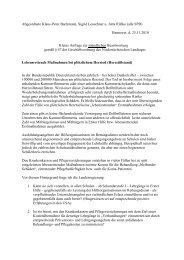 Kleine Anfrage zur mündlichen Beantwortung vom 25. November