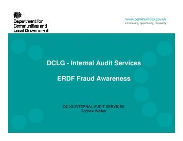 ERDF Fraud Awareness - One East Midlands