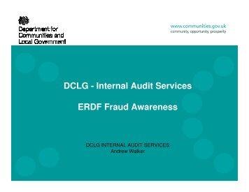 ERDF Fraud Awareness - One East Midlands