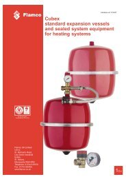 Cubex standard expansion vessels and sealed ... - BSS Industrial