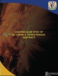 CUURRICULUM VITAE OF Dr. JORGE A. PEREZ-PERAZA ...