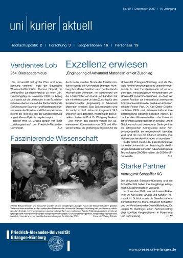 uni kurier aktuell - Friedrich-Alexander-Universität Erlangen-Nürnberg