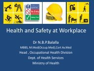 Health and Safety at Workplace by MOH
