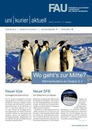 uni kurier aktuell 83, August 2011 - Friedrich-Alexander-Universität ...