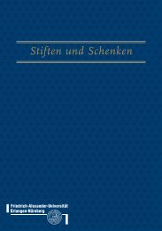 Stiften und Schenken - Friedrich-Alexander-Universität Erlangen ...