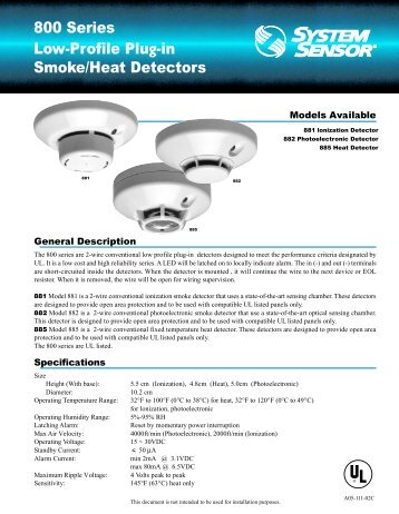 Low Profile Photo Smoke Detector Archer