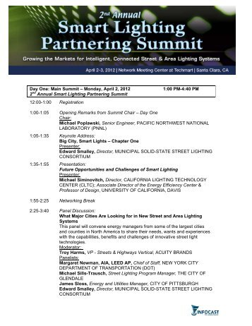 Day One: Main Summit – Monday, April 2, 2012 1:00 PM-4 ... - Infocast