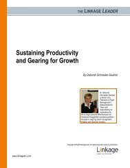 Sustaining Productivity and Gearing for Growth
