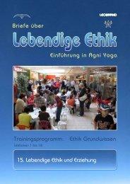 Lebendige Ethik und Erziehung - Welt-Spirale
