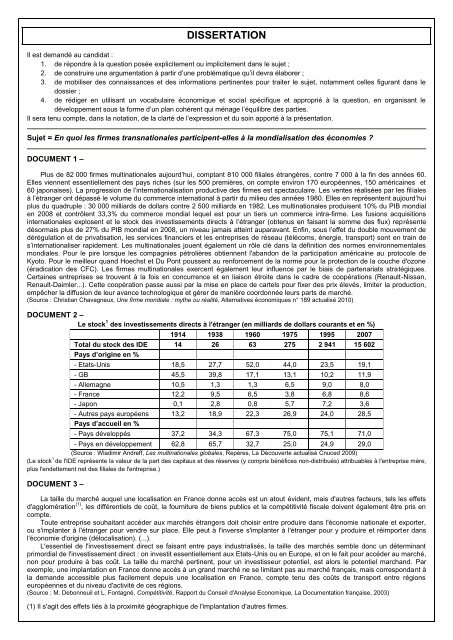 dissertation les firmes multinationales