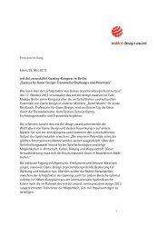 Pressemitteilung Essen, 23. Mai 2013 red dot ... - Red Dot Online