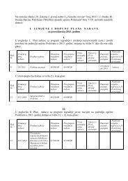 I. Izmjene i dopune plana nabave za proračunsku 2013. godinu