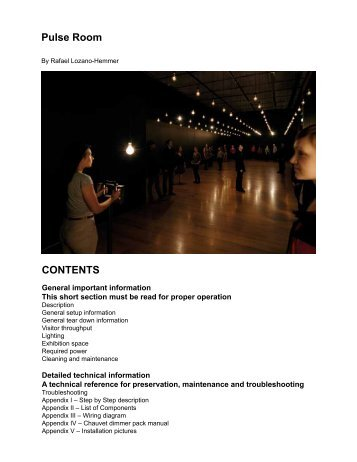 Pulse Room's manual - Rafael Lozano-Hemmer