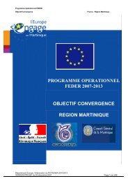 Programme opérationnel FEDER 2007-2013 - Le Conseil Général ...