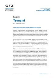 Infoblatt Tsunami - GeoForschungsZentrum Potsdam