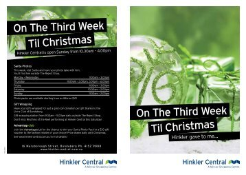 On The Third Week Til Christmas On The Third ... - Mirvac | Retail