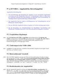 97. § 18 VOB/A - Angebotsfrist, Bewerbungsfrist - Oeffentliche ...