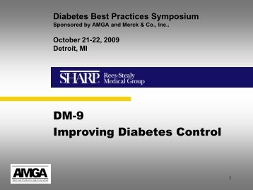 Diabetes Management Samples - California Quality Collaborative