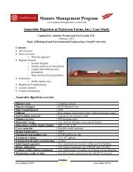 Anaerobic Digester at Patterson Farms - Manure Management