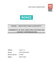BONDI Architecture & Security - List