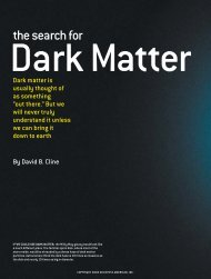 The Search for Dark Matter - Institute of Nuclear and Particle Physics