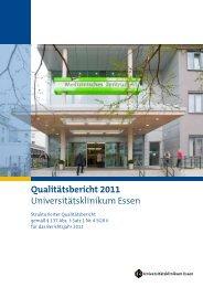 Qualitätsbericht 2011 Universitätsklinikum Essen