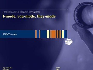 I-mode, you-mode, they-mode