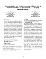 An investigation into the implementation of open source software ...