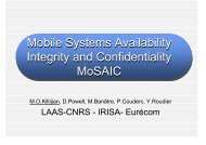 Mobile Systems Availability Integrity and ... - LAAS CNRS