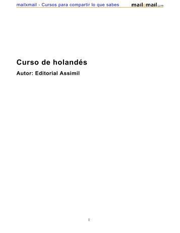 Curso de holandés Autor: Editorial Assimil - MailxMail