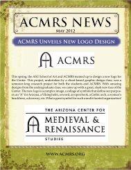 ACMRS Unveils New Logo Design - Arizona Center for Medieval ...