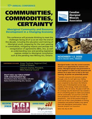 Canadian Aboriginal Minerals Association 17th Annual Conference