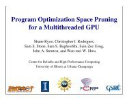 Program Optimization Space Pruning for a Multithreaded GPU