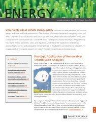 Energy Bulletin, Spring/Summer 2010 - Analysis Group