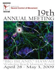 2009 Program - Society for the Neural Control of Movement
