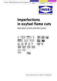 Imperfect flame cuts - Zinser Schweisstechnik GmbH
