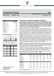 Kongsberg Gruppen - Fondsfinans