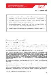 Résultats S1 2011 - Iliad