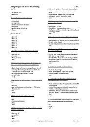 Fragebogen zu Ihrer Erziehung GK11 - Ploecher.de
