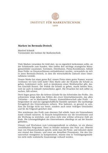 Artikel (PDF, 62 KB) - Institut für Markentechnik Genf