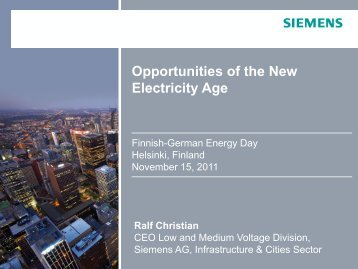 The new electricity age - Finnish-German Energy Day 2012