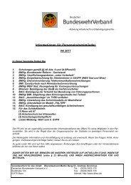 Informationen für Personalratsmitglieder 04/ 2011 - DBwV