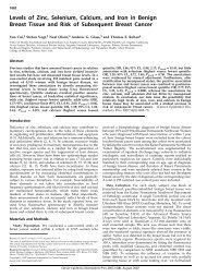 Levels of Zinc, Selenium, Calcium, and Iron in Benign Breast Tissue ...