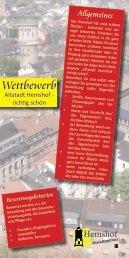 Wettbewerb - Altstadt Hemshof