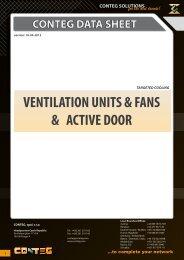 conteg data sheet ventilation units & fans & active door