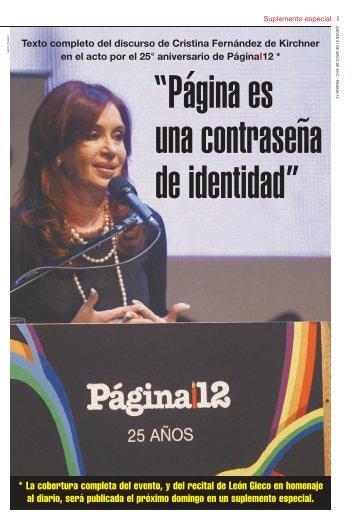Página es una contraseña de identidad - Página/12