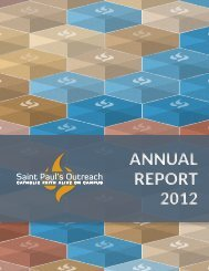 AnnuAl RepoRt 2012 AnnuAl RepoRt 2012 - Saint Paul's Outreach