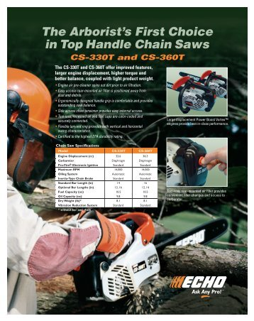 product information - Echo Inc.