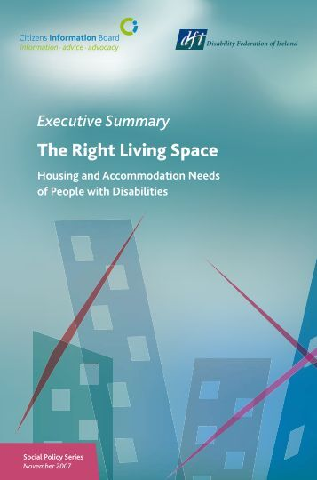 Summary of Report on Housing Needs of People with Disability 2007