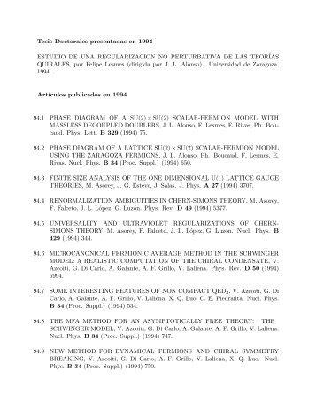 Tesis Doctorales presentadas en 1994 ESTUDIO DE UNA ...